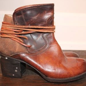 Leather Freebird Stevens By Steve Madden Booties
